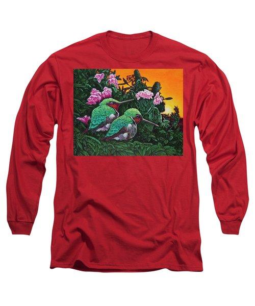 Ruby-throated Hummingbirds Long Sleeve T-Shirt