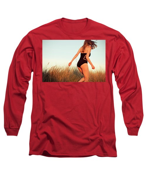 Running Unsharp In The Golden Hour Long Sleeve T-Shirt