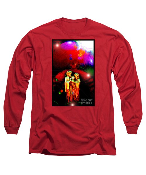 Long Sleeve T-Shirt featuring the photograph Sacred Family In Cosmos by Susanne Still