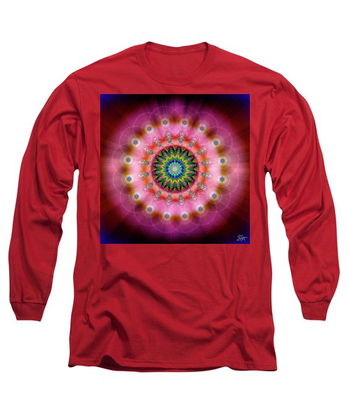 Sacred Geometry 644 Long Sleeve T-Shirt by Endre Balogh