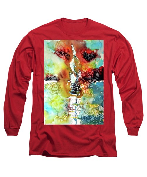 Sailboat After Storm Long Sleeve T-Shirt by Kovacs Anna Brigitta