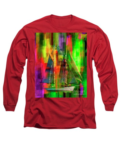 Sailing In The Abstract 2016 Long Sleeve T-Shirt