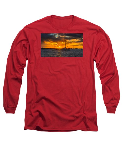 Sailor Sunset Long Sleeve T-Shirt by Kevin Cable