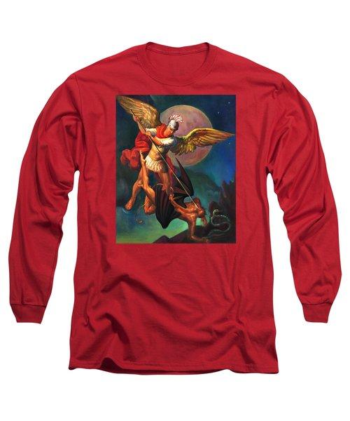 Saint Michael The Warrior Archangel Long Sleeve T-Shirt