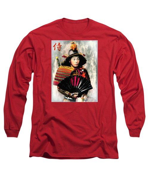 Samurai 1898 With Iron Fan Long Sleeve T-Shirt