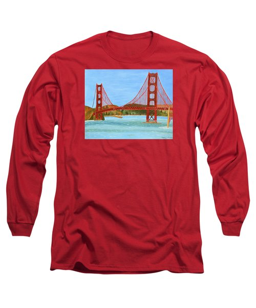San Francisco Bridge  Long Sleeve T-Shirt by Magdalena Frohnsdorff