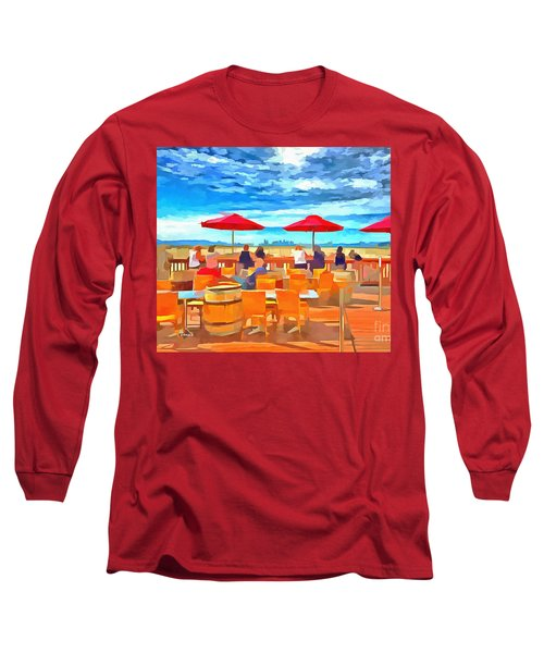San Francisco Skyline From Alameda  Long Sleeve T-Shirt by Linda Weinstock