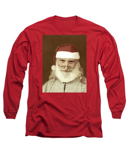 Santa's Day Off Long Sleeve T-Shirt by Linda Phelps