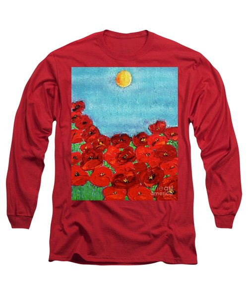 Sarah's Poppies Long Sleeve T-Shirt