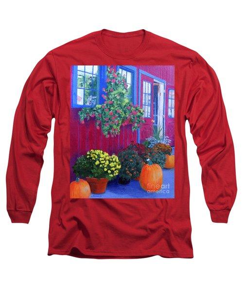 Savickis Market Long Sleeve T-Shirt by Lynne Reichhart