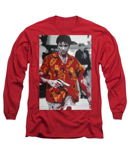 Scarface 2013 Long Sleeve T-Shirt by Luis Ludzska