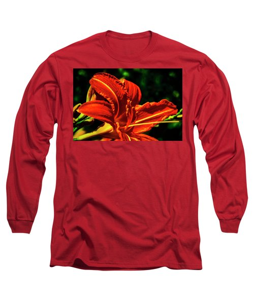 Long Sleeve T-Shirt featuring the photograph Scarlet Flower  by Joseph Hollingsworth