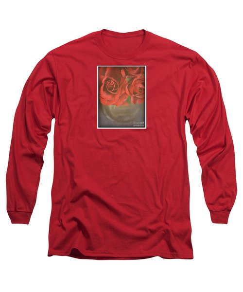 Long Sleeve T-Shirt featuring the photograph Scarlet Roses by Lyn Randle