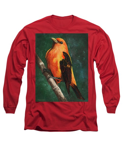 Scarlet Tanager Long Sleeve T-Shirt