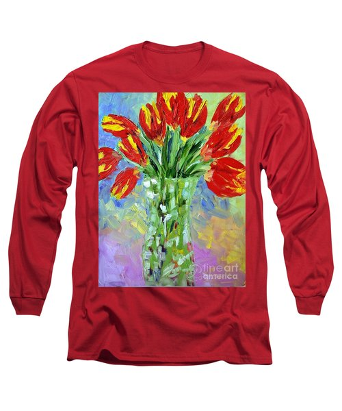 Scarlet Tulips Long Sleeve T-Shirt