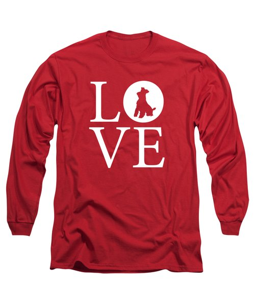 Schnauzer Love Red Long Sleeve T-Shirt