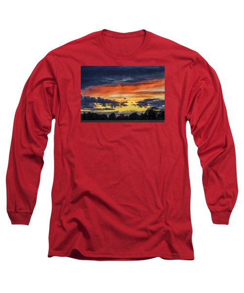 Long Sleeve T-Shirt featuring the photograph Scottish Sunset by Jeremy Lavender Photography