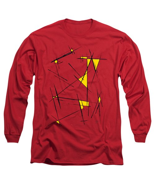 Scratched With Yellow Long Sleeve T-Shirt