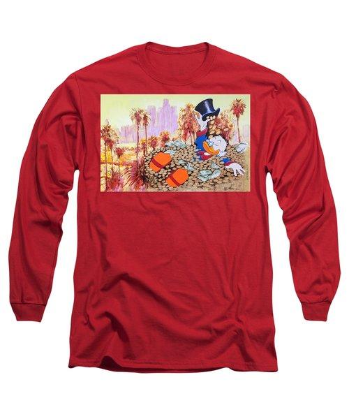 Scrooge In La Long Sleeve T-Shirt