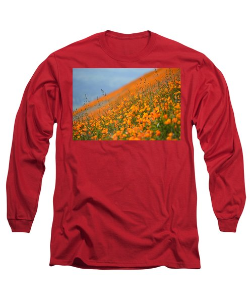 Sea Of Poppies Long Sleeve T-Shirt by Kyle Hanson