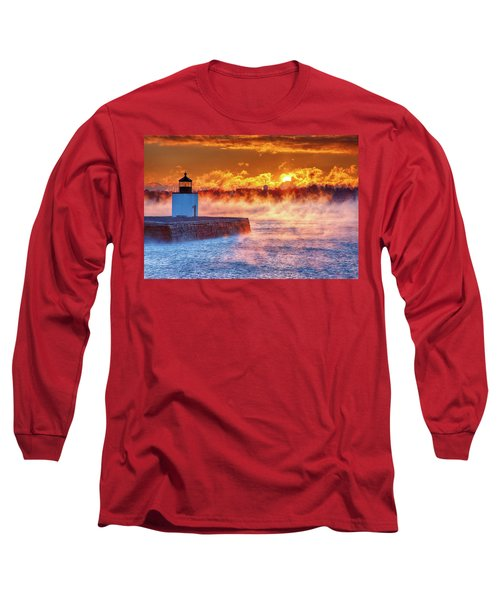 Seasmoke At Salem Lighthouse Long Sleeve T-Shirt
