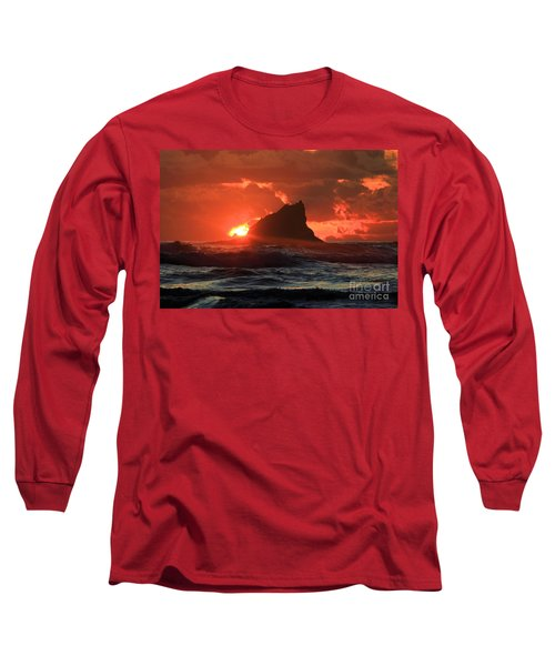Second Beach Shark Long Sleeve T-Shirt