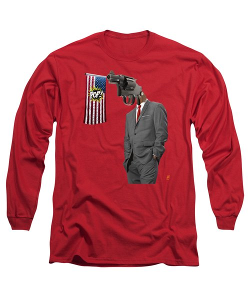 Long Sleeve T-Shirt featuring the drawing Second by Rob Snow