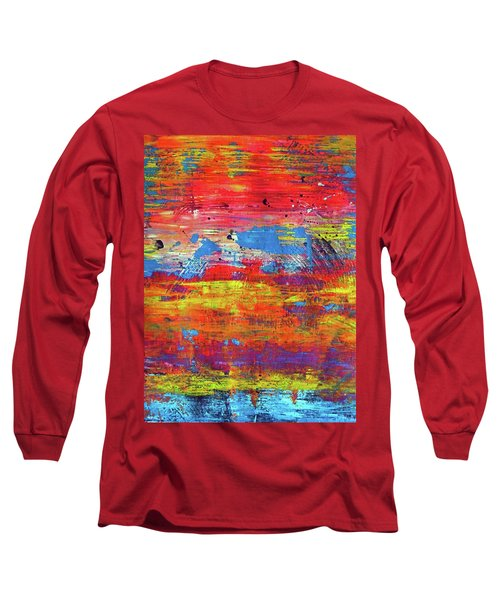 Long Sleeve T-Shirt featuring the painting Sedona Trip by Everette McMahan jr