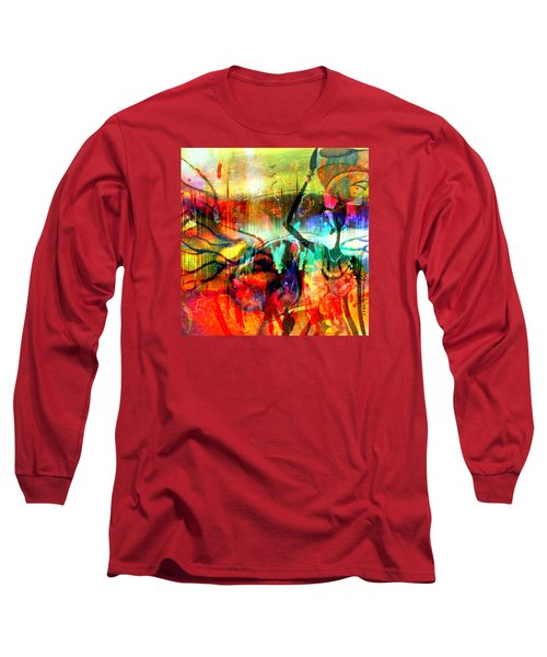 Long Sleeve T-Shirt featuring the mixed media Self Employed by Fania Simon