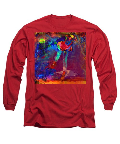 Serena Williams Return Explosion Long Sleeve T-Shirt by Brian Reaves