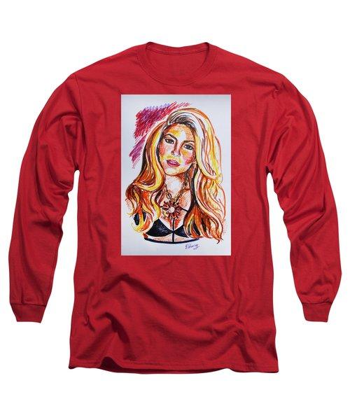 Shakira Long Sleeve T-Shirt by Viktoriya Lavtsevich
