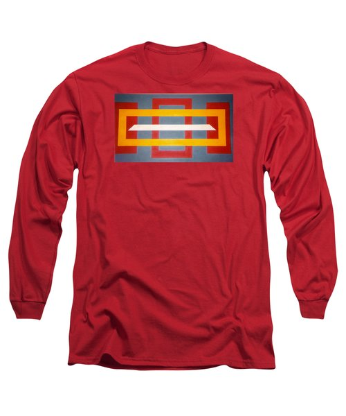 Long Sleeve T-Shirt featuring the painting Shapes by James McAdams