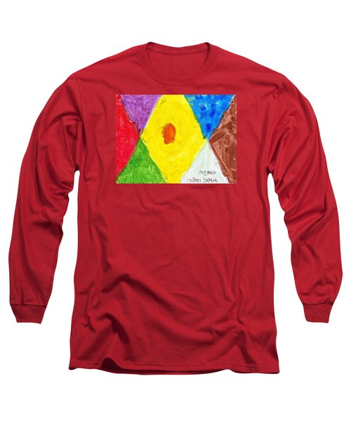 Long Sleeve T-Shirt featuring the painting Shapes by Artists With Autism Inc