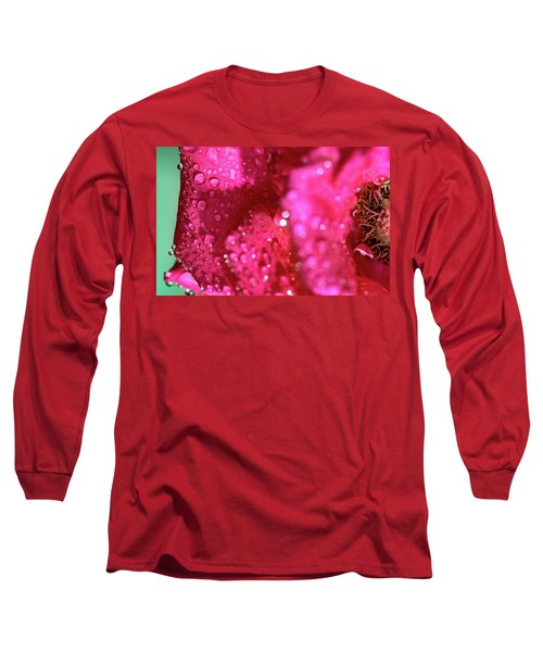 Sharp Wet Rose Long Sleeve T-Shirt