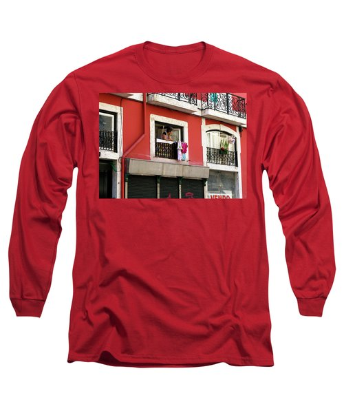 Long Sleeve T-Shirt featuring the photograph She Takes A Break by Lorraine Devon Wilke