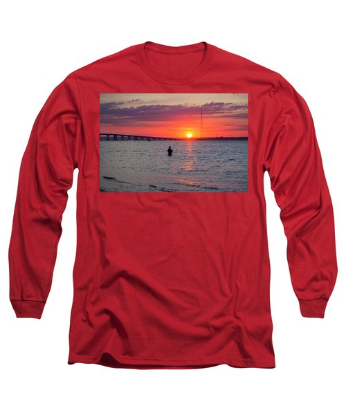 Shinnecock Fisherman At Sunset Long Sleeve T-Shirt