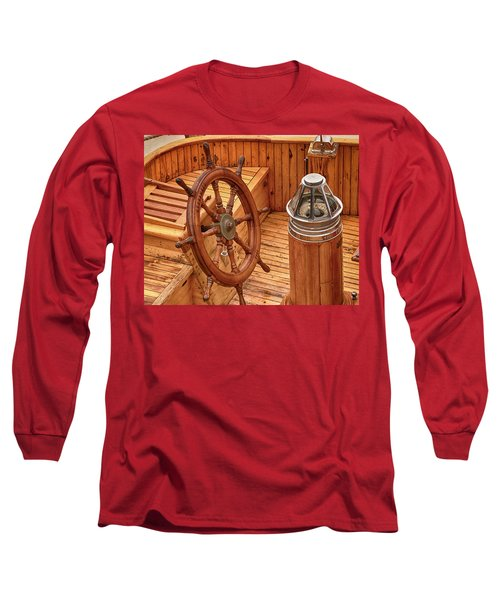 Wheel And Compass Long Sleeve T-Shirt