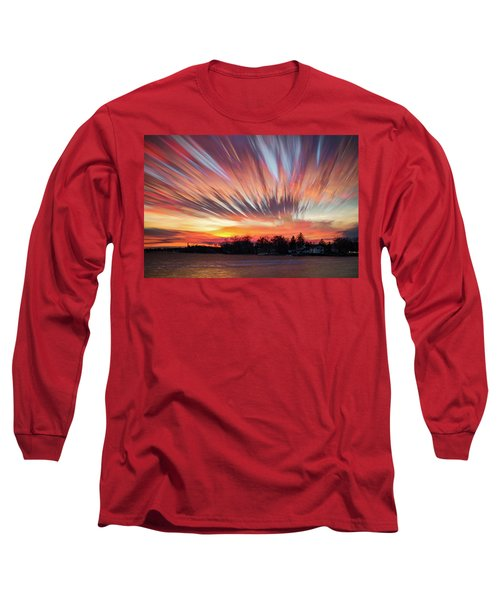 Shredded Sunset Long Sleeve T-Shirt