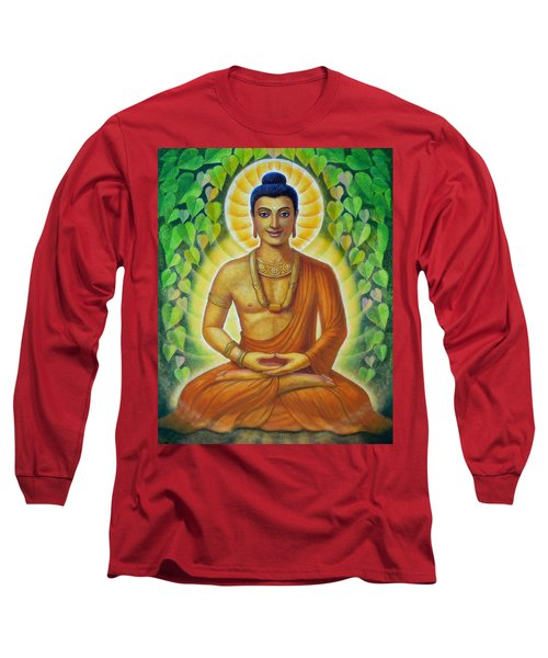 Long Sleeve T-Shirt featuring the painting Siddhartha by Sue Halstenberg