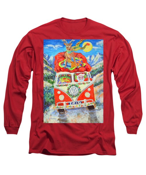 Long Sleeve T-Shirt featuring the painting Sierra Santa by Li Newton