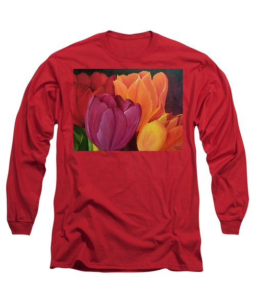 Silky Tulips Unite  Long Sleeve T-Shirt