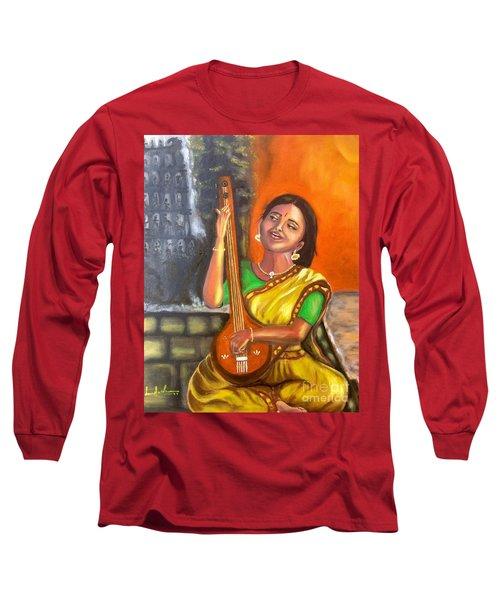 Singing @ Sunrise  Long Sleeve T-Shirt by Brindha Naveen