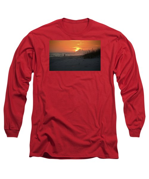 Sinking Into The Horizon Long Sleeve T-Shirt by Renee Hardison