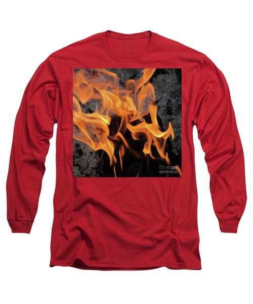 Sitting By The Crackling Fire Long Sleeve T-Shirt