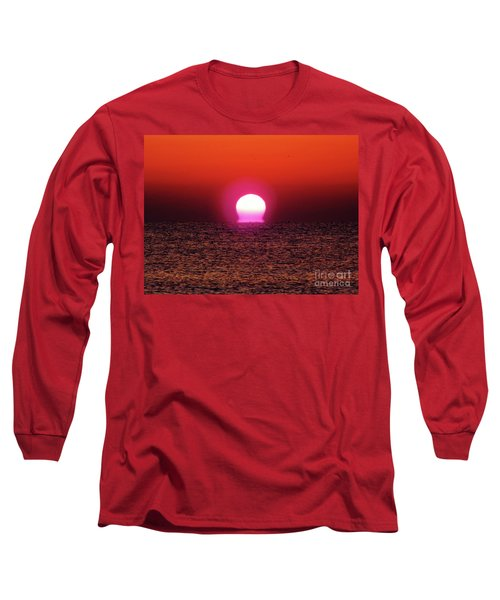 Long Sleeve T-Shirt featuring the photograph Sizzling Sunrise by D Hackett