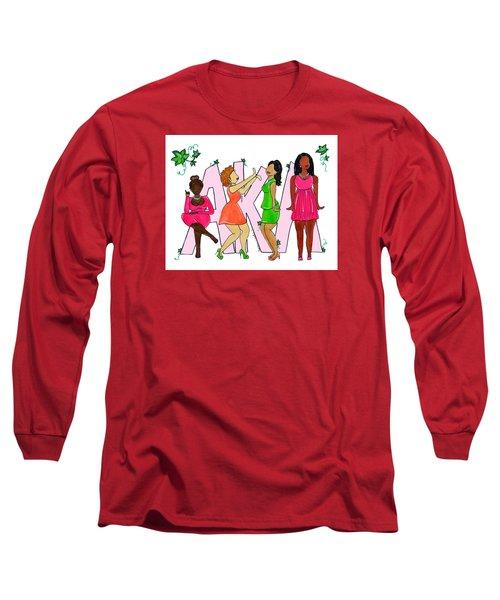 Skee Wee My Soror Long Sleeve T-Shirt by Diamin Nicole