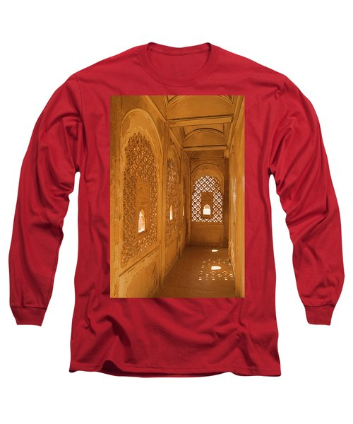 Skn 1241 Carved Niche Long Sleeve T-Shirt by Sunil Kapadia