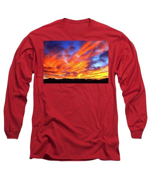 Sky On Fire #5 Long Sleeve T-Shirt