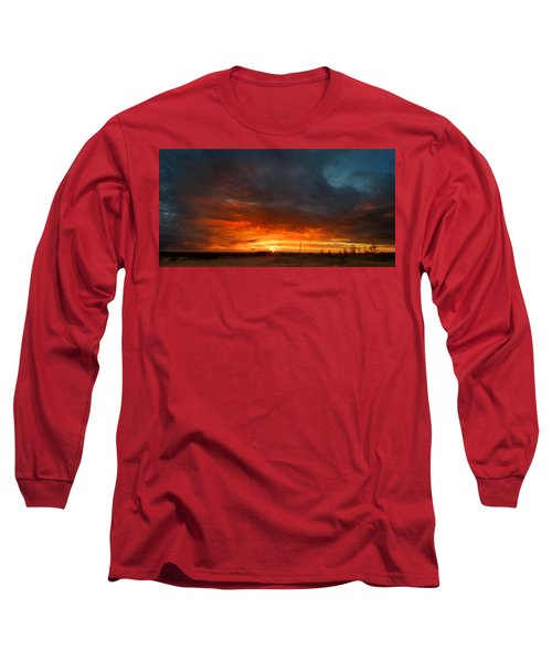 Long Sleeve T-Shirt featuring the photograph Sky On Fire by Rod Seel