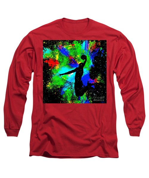 Slam Dunk Kobe Bryant Long Sleeve T-Shirt by Saundra Myles